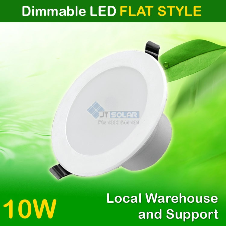 AU Approved Best Price 10W Dimmable LED Downlight 90-100mm Cutout - Flat Style