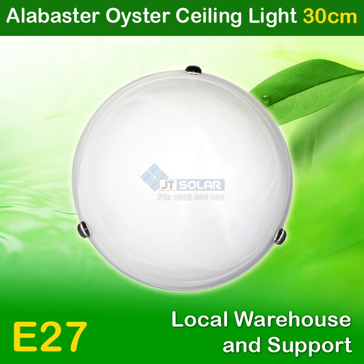 5 X AU Approved Household E27 Alabaster Oyster Ceiling Light - 30cm