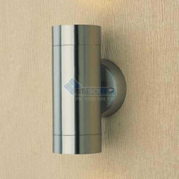 Up down exterior wall light stainless steel up down exterior wall down light gu10 lamp included aloadofball Gallery