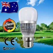 10 x AKESI 6W LED Bulbs Frost Glass Globe B22