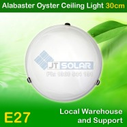 Low-priced AU Approved Household E27 Alabaster Oyster Ceiling Light - 30cm Diameter