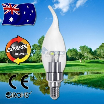AKESI 3W LED Crystal Flame Candle Light Bulb E14