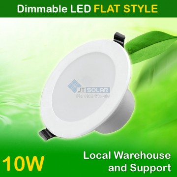 1-20 AU Approved Local Stocked 10W Dimmable LED Downlight 90-100mm cut out -- Flat Style