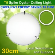 AU Approved T5 Energy Saving Tube Included Tri Spike Oyster Ceiling Light - 30cm