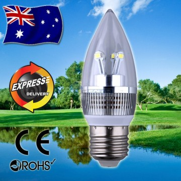AKESI 4W Crystal Candle LED Light Bulb Globe - E27 Base - ROHS Approved